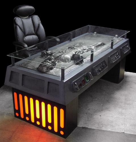 For the Star Wars fanboy within you, who wouldn't want this awesome Office  desk of Han Solo encased in carbonite. I, personally like this and would  love to ...