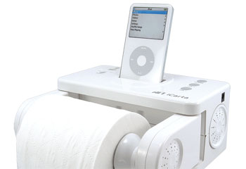 iCarta: iPod-Compatible Toilet Paper Holder