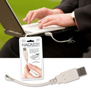Nice suit - check. Expensive watch - check. Tatty USB cable - check.