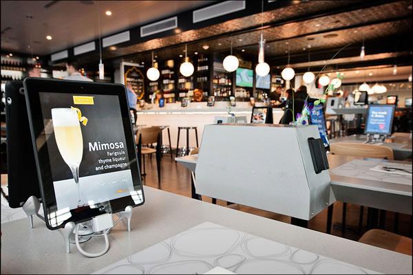 tablet in restaurant