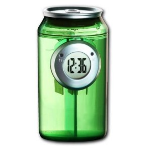 soda can water clock