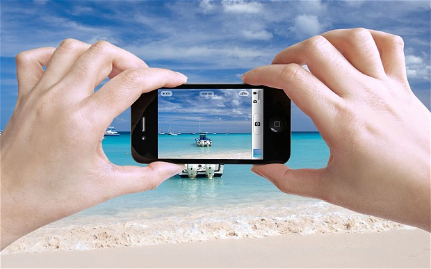 taking photos using smartphone